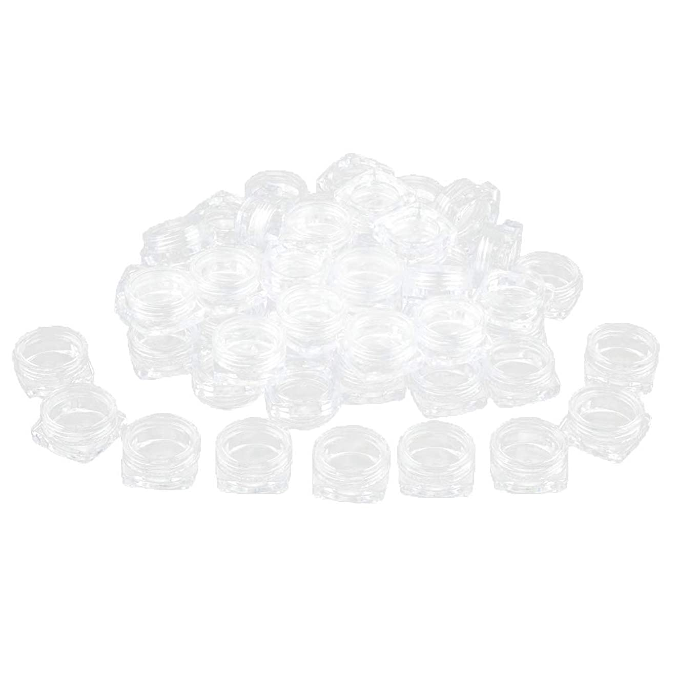 有効再びブラケットFLAMEER 約50個 化粧ポット ローションジャー サンプルボトル コスメ 化粧品 詰替え容器 クリア - 2g