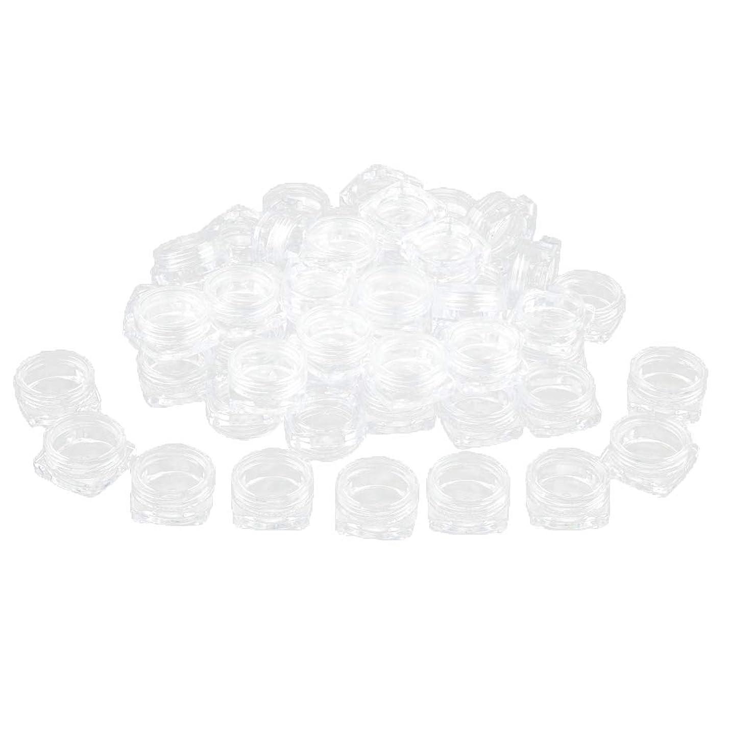 ワット横向き起こりやすいPerfeclan 約50個 化粧品ジャー 蓋付き 化粧ポット ローションジャー クリーム容器 サンプルボトル - 3g