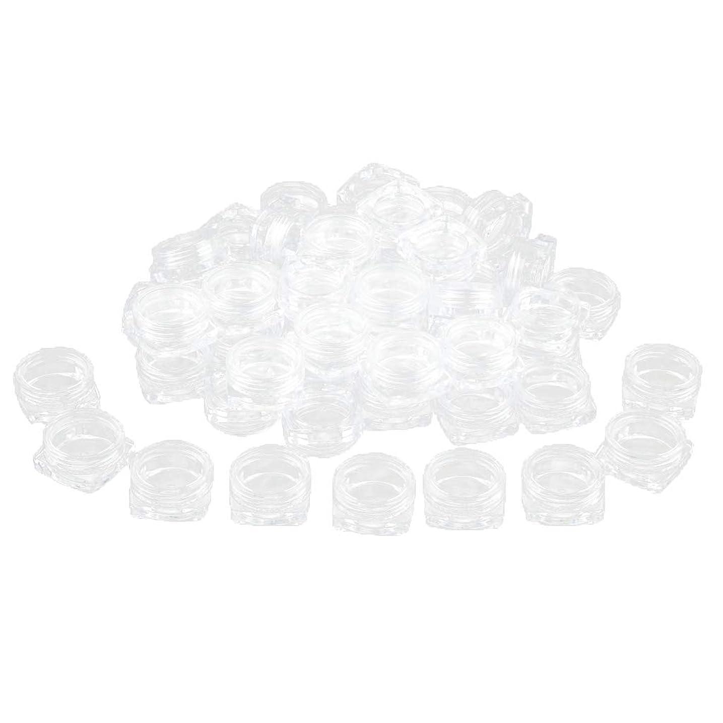 密度主婦傾いたFLAMEER 約50個 化粧ポット ローションジャー サンプルボトル コスメ 化粧品 詰替え容器 クリア - 2g