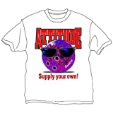 Bowlerstore Products Bowling Attitude T-Shirt- White (XXX-Large, White)