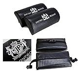 X2 JP Junction Produce Carbon Fiber Car Seat Neck Pillows Headrest Cushion Pad