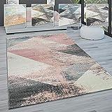 Paco Home Alfombra salón Pelo Corto Vintage Pastel Motivos Abstractos Distintos Estilos, tamaño:140x200 cm, Color:Multicolor