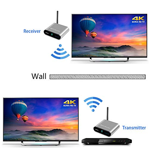 Measy AV220 2.4 GHz wireless AV trasmettitore e ricevitore audio video fino a 200 m/201,2 m