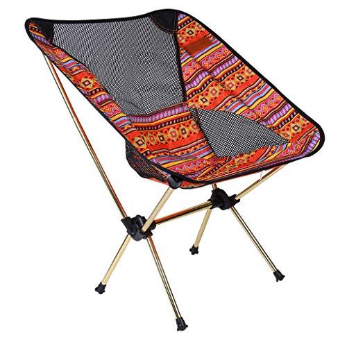 JUSHINI Klappstuhl Shine Trip Tragbare Leichte Freien Mehrzweck Faltstuhl Campingrucksackstühle Bequem Angeln Picknick Hocker Sitz Klapphocker Reisestuhl(Einschließlich Aufbewahrungstasche)