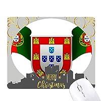 ポルトガルの国章の国のシンボル クリスマスイブのゴムマウスパッド