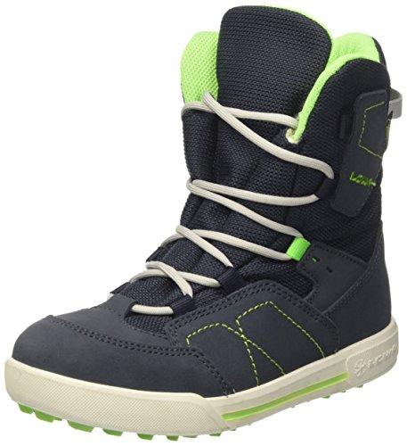 Lowa Unisex-Kinder Raik GTX Mid Trekking- & Wanderhalbschuhe, Blau (Navy/Limone_Navy/Lime), 35 EU
