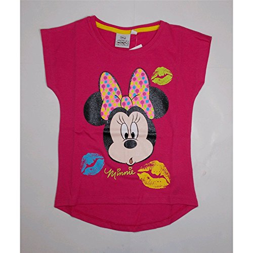 Camiseta camiseta Minne manga corta verano niña Disney 3/8años–oe1160 anni 04 rosa