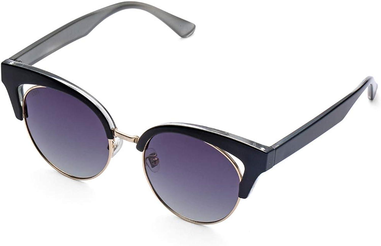 Fashion Sunglasses Female New Korean Sunglasses Myopia Sunglasses (color   Purple, Size   50mm55mm)