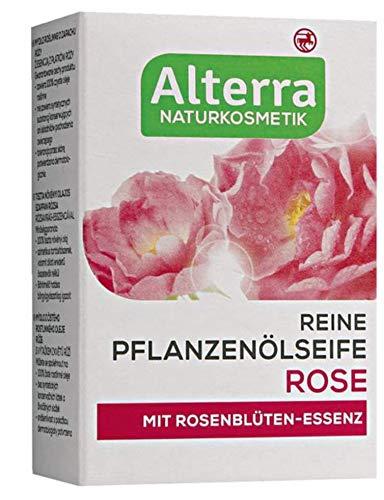 Reine Pflanzenölseife Rose, mit Rosenblüten-Essenz, vegan, Naturkosmetik, 2er Pack (2 x 100g)