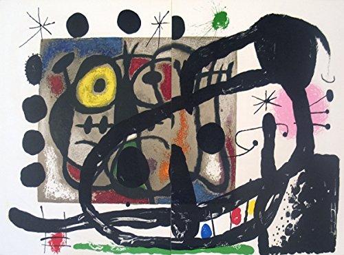 1965 Joan Miro páginas de bailarina de le Miroir, no, 151-152 Litografía