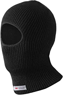 Evridwear 保暖双层或单层腈纶针织单孔巴拉克拉瓦,冬季滑雪领面部保护面罩,均码