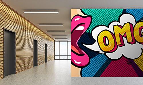 Oedim - Fotomural Papel Pintado Pared Cómic OMG | Fotomural para Paredes | Mural | Papel Pintado | Varias Medidas 350 x 250 cm | Decoración comedores, Salones, Habitaciones.
