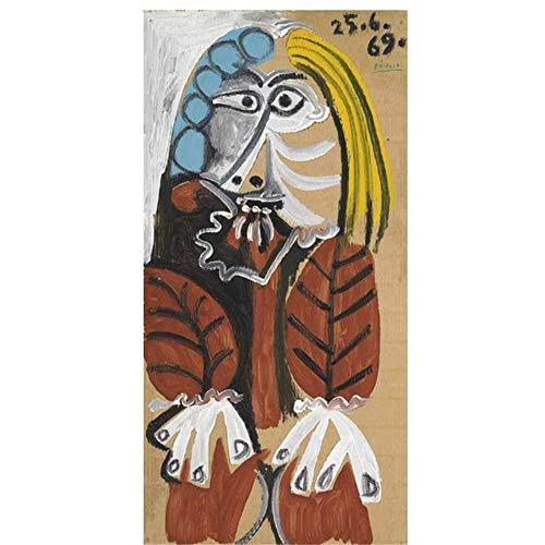YKing1 Pablo Picaso Berühmte Kunst Gemälde Drucken Kunst Poster Und Drucke Abstrakte Klassische Frau Kunst Bilder Wohnkultur 50x100cm ungerahmt