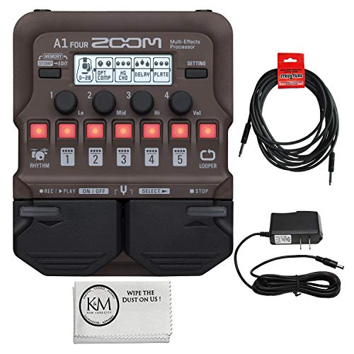 Zoom A1 FOUR Multi-Effects Processor with Essential Bundle
