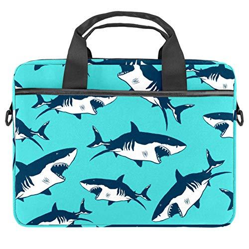 Cool Carton Sharks Laptop-Tasche, Messenger-Tasche, schmale Aktentasche mit Umhängetasche, Computer-Tasche und Tablet-Tragetasche für 13,4-14,5 Zoll