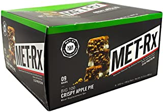 MET-Rx Big 100 Colossal - Crispy Apple Pie - Box of 9 - 3.52 oz (100g) bars