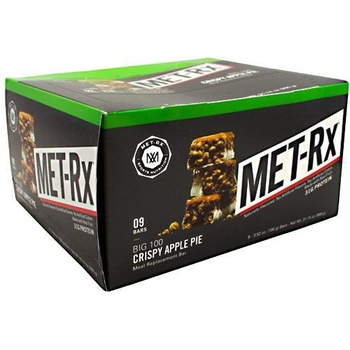 MET-Rx Big 100 Colossal - Crispy Apple Pie - Box of 9 - 3.52 oz (100g) bars