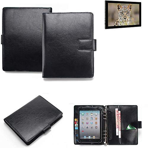 K-S-Trade® Tablet-Hülle Und Organizer Kombination Für Blaupunkt Endeavour 101G Mit Ringbucheinlage Schwarz. Kunstleder Qualitätsware (1x)