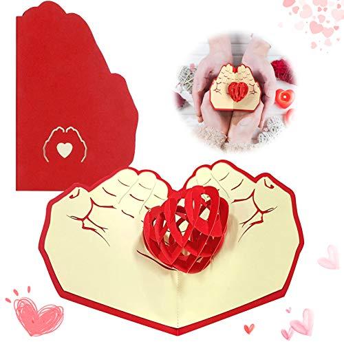 Sunshine smile 3D Pop-Up-Grußkarten Geburtstag,Klappkarten,Wedding Card,Karte zum Valentinstag,Geburtstagskarte Liebe,Glückwunschkarte für Frauen,3D Herz Grußkarten,Pop up Karte Geburtstagskarte