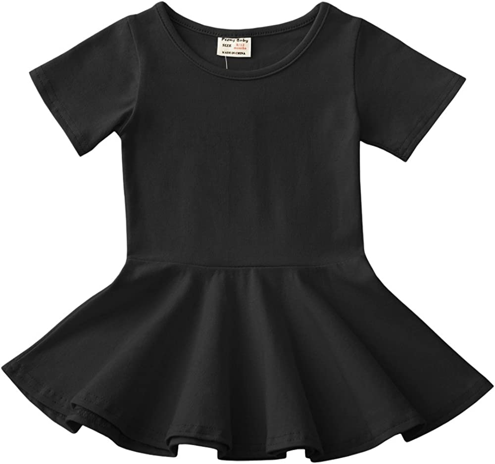 Daiermeng Baby Girls Dress Short Cotton National products Sleeves Ruf quality assurance Skirt Casual