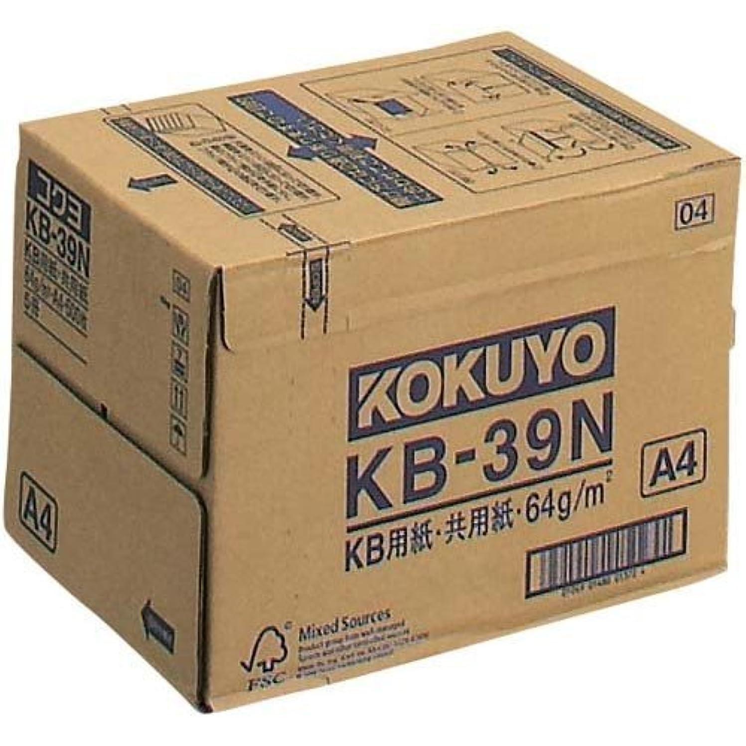 知覚できる肩をすくめるソーシャルコクヨ コピー用紙 A4 白色度80% 紙厚0.09mm 2500枚(500×5) FSC認証 KB-39N