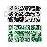 XBF-TOOL, X-Baofu, Anillo 495PCS Junta tórica Kit Metric O Seals Arandela de estanqueidad de Goma O Anillo Juntas Resistencia al Aceite 36 Tamaños Surtido Kit (Color : Black Green)