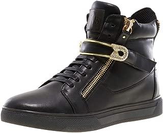 Jump J75 Men's Zion PIN Round Toe Rhinestone Strap Lace-Up High-Top Sneaker