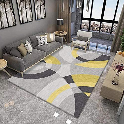 """Cuadros cabecero Cama Matrimonio alfombras Exterior Jardin Salón Alfombra Dormitorio Gris Amarillo Suave y cómodo Lavable alfombras en Rollo 5ft 10.9"""" X9ft 2.2"""""""