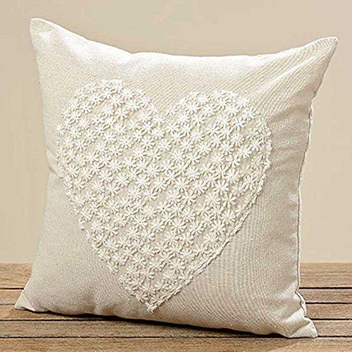 Cojín con diseño de corazones Grita 40 cm x 40 cm Color de los cojines del sofá cojín decorativo