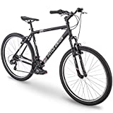 27.5' Royce Union RMT Mens 21-Speed All-Terrain Mountain Bike, 22' Aluminum Frame, Twist Shift, Matte Black