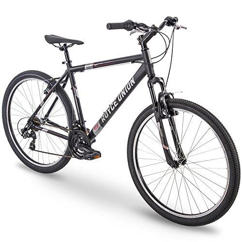 "27.5"" Royce Union RMT Mens 21-Speed All-Terrain Mountain Bike, 20"" Aluminum Frame, Twist Shift, Matte Black"