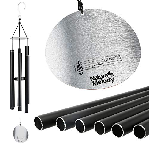 Nature's Melody Wind Chimes for Outdoor, Tuned Metal Tubes, 36""