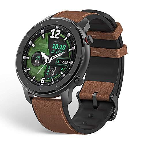 """Amazfit GTR 47mm Reloj inteligente Smartwatch Deportivo AMOLED de 1.39"""", GPS + GLONASS, Frecuencia cardíaca Continua de 24 Horas, Larga duración de batería, 12 Deportes Diferentes, Marrón - Alumin"""