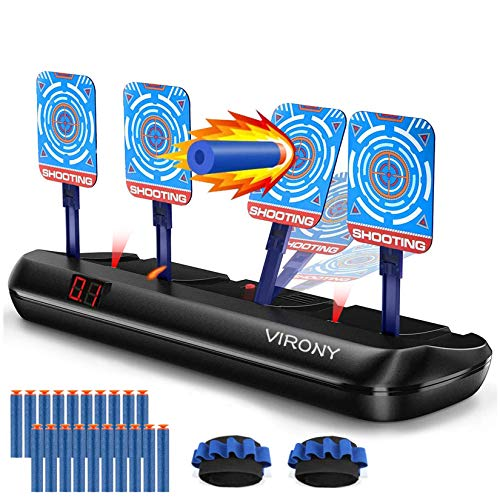 VIRONY Electronic Shooting Target for Nerf Guns Targets Toys Gift for Kids Boys Girls (Electric Scoring Auto Reset)
