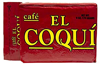 Dark Roast Espresso Ground Coffee - from Cafe El Coquí. (6 oz) Premium Puerto Rican Style Ground Coffee, Vacuum Pack