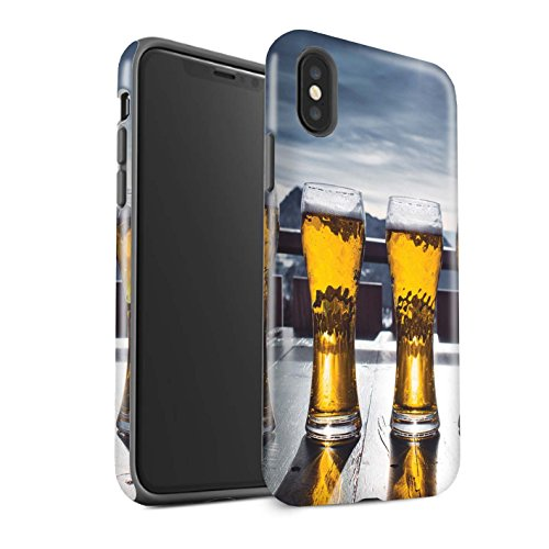 Stuff4 Var voor skiën/snowboarden IP-3DTBM Bumper Hoes Apple iPhone X/10 Ski Lodge/Beer