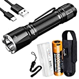 HIGH LUMEN TACTICAL FLASHLIGHT - Fenix TK16 V2 has a 3100 lumen max output and over 415 yards throw with tungsten inlay bezel, ideal duty light for patrol, EDC and search and rescue. HIGH CAPACITY BATTERY - Included is a USB-C rechargeable 5000mAh 21...