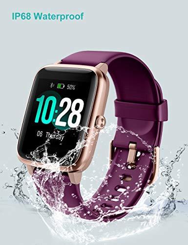 Willful Smartwatch,Reloj Inteligente con Pulsómetro,Cronómetros,Calorías,Monitor de Sueño,Podómetro Monitores de actividad Impermeable IP68 Smartwatch Hombre Reloj Deportivo para Android iOS miniatura