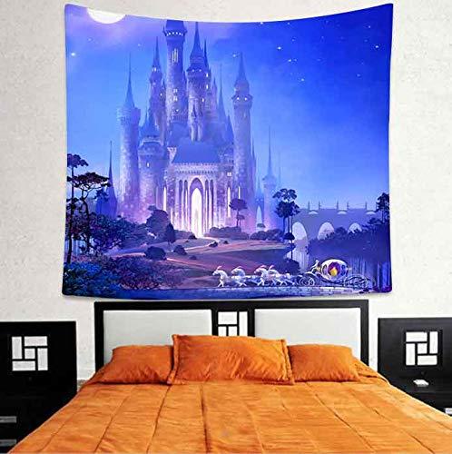 WERT Tapiz de Ballena Azul Vida Marina Animales Marinos Arte tapices para Colgar en la Pared para Sala de Estar Dormitorio hogar Dormitorio decoración A4 95x73cm