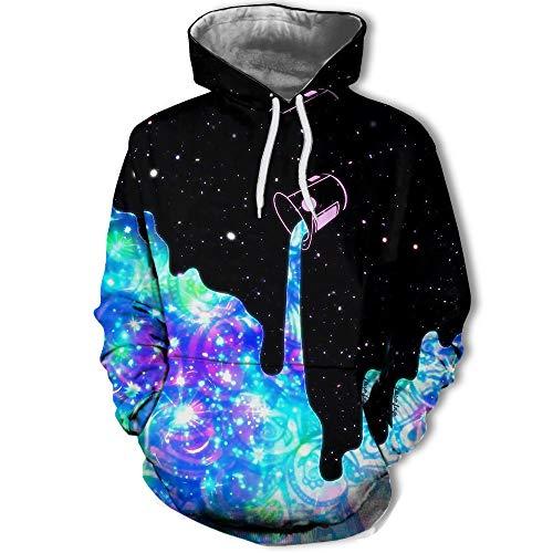 3D Print Pullover Sweater Atmungsaktiv Hoodie Starry Paint Bucket Herren Sweatshirt S...