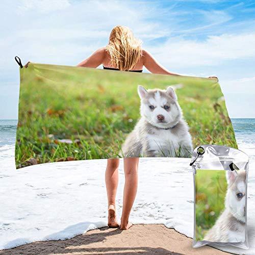 Toalla de playa de microfibra de cachorros, de secado rápido, ligera, sin arena, para viajes, al aire libre, manta de micro fibra, alfombrilla fina, personalizada, para mujeres, hombres, adultos