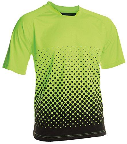 Vizari Ventura Short Sleeve Goalkeeper Jersey, Neon Green/Black, Size Adult Medium
