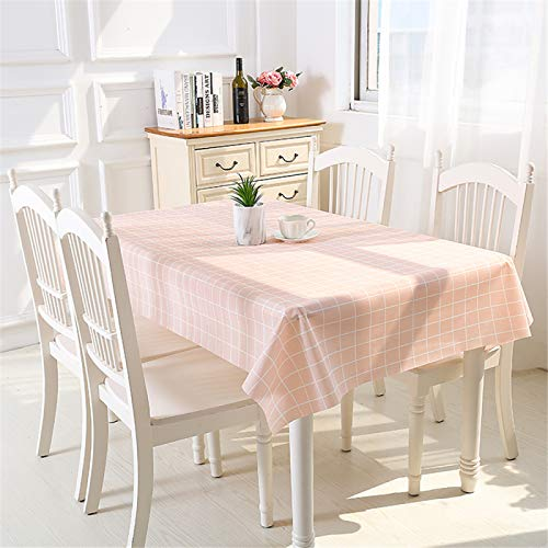 YUNSW Mantel De PVC Creativo Y Simple, Impermeable, Anti-Escaldado, Resistente Al Aceite, Mantel De Rejilla Rectangular A Prueba De Manchas, Mantel De Mesa De Café