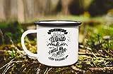 Mug en émail avec citation personnalisée Mug en émail Tasse de camping Tasse de voyage Tasse à café Tasse de randonnée Mug de montagne Mug Vanlife