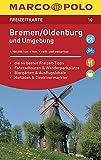 MARCO POLO Freizeitkarte Bremen, Oldenburg und Umgebung: Toeristische kaart 1:100 000 -