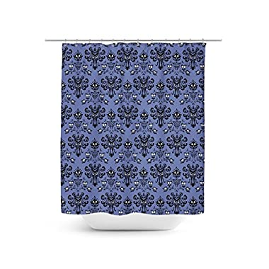 Queen of Cases Haunted Mansion Wallpaper Shower Curtain - 66x72 Large