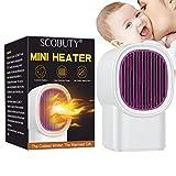 Calefactor Eléctrico,Calefactor Portátil Eléctrico,Calentador,Mini Calentador de Ventilador,Ideal para el hogar, la oficina