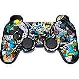 Skinit Decal Gaming Skin for PS3 Dual Shock Wireless Controller - Officially Licensed Warner Bros Batman Comic Book Design