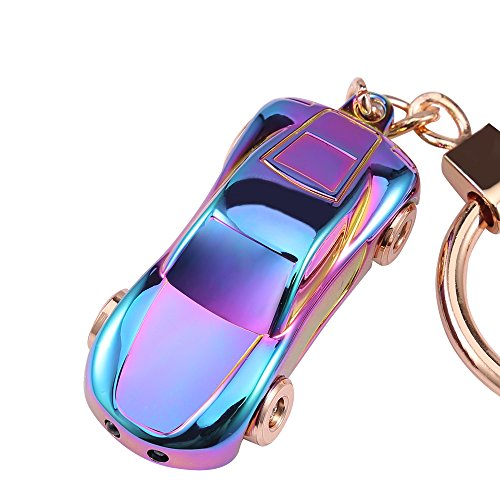 Key Chain Flashlights, Jobon Car Keychain Flashlight with 2 Modes LED Lights, Spring Ring Clip, Fancy and Adorable Men or Women Gifts Ideas (Colorful)