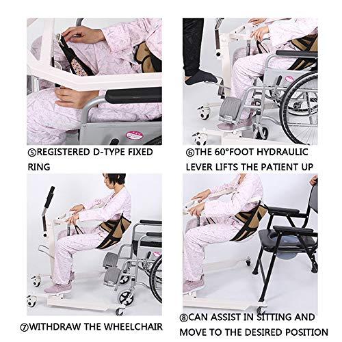 51tEDYDTXrL - Gruas para Enfermos, Gruas para Mayores con Vientiane Soundless Wheel, GrúA HidráUlica Patas Ajustables para Pacientes Encamados, Cargar Los Portes 120 Kg